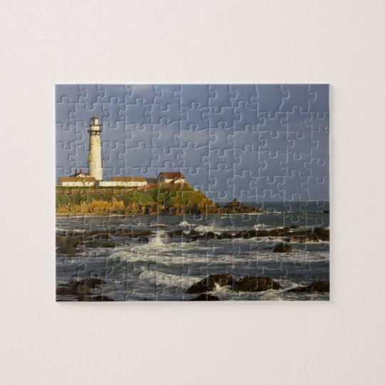 Lighthouse at Pigeon Point State Beach in San 2 Jigsaw Puzzle
