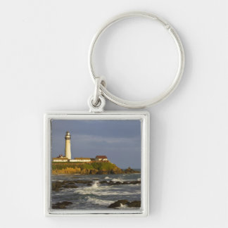 Lighthouse at Pigeon Point State Beach in San 2 Keychain