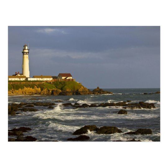 Lighthouse at Pigeon Point State Beach in San 2 Postcard
