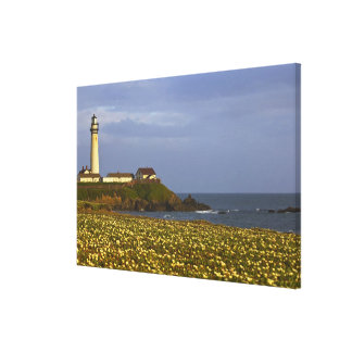 Lighthouse at Pigeon Point State Beach in San Canvas Print