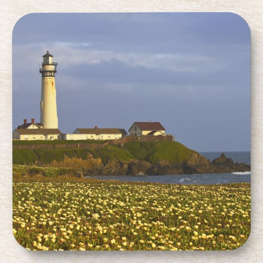 Lighthouse at Pigeon Point State Beach in San Coaster