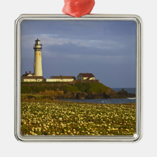 Lighthouse at Pigeon Point State Beach in San Metal Ornament