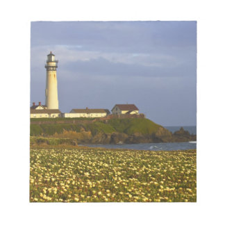Lighthouse at Pigeon Point State Beach in San Memo Note Pad