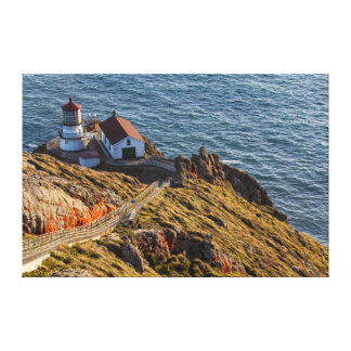 Lighthouse At Point Reyes National Seashore Canvas Print