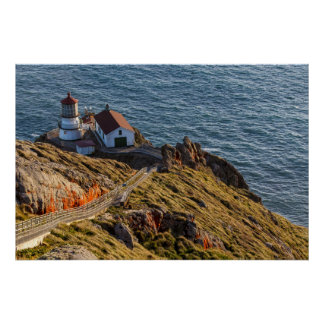 Lighthouse At Point Reyes National Seashore Poster
