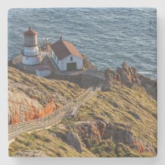 Lighthouse At Point Reyes National Seashore Stone Coaster