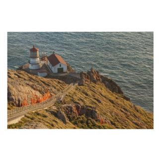 Lighthouse At Point Reyes National Seashore Wood Wall Art