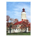 Lighthouse at Sandy Hook Invitations