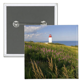 Lighthouse at St. Martins, New Brunswick, 2 2 Inch Square Button