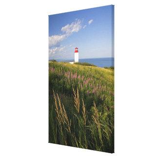 Lighthouse at St. Martins, New Brunswick, 2 Canvas Print