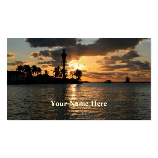 Lighthouse at Sunrise Double-Sided Standard Business Cards (Pack Of 100)