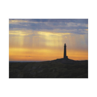 Lighthouse at sunrise stretched canvas prints