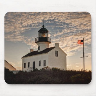 Lighthouse at sunset, California Mouse Pad