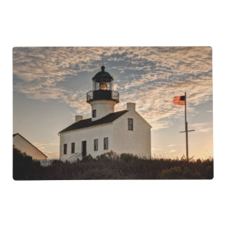 Lighthouse at sunset, California Placemat