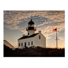 Lighthouse At Sunset, California Postcard at Zazzle