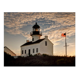 Lighthouse at sunset, California Postcard