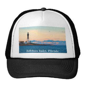 Lighthouse at Sunset Mesh Hats