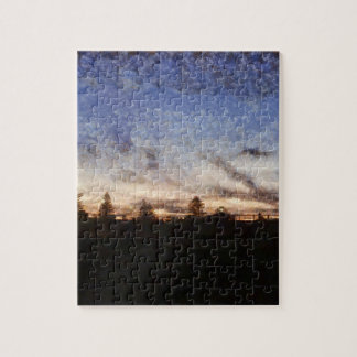Lighthouse at sunset jigsaw puzzle