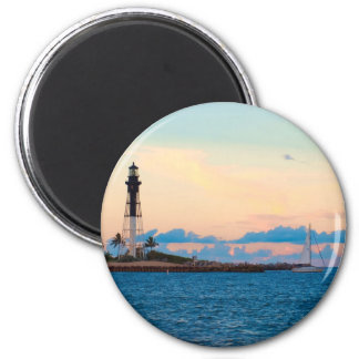 Lighthouse at Sunset Magnet