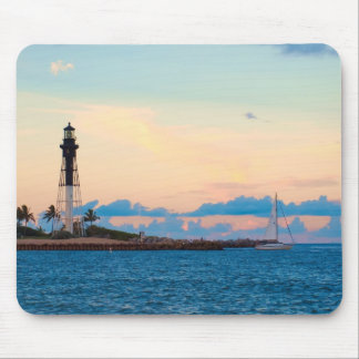 Lighthouse at Sunset Mouse Pad