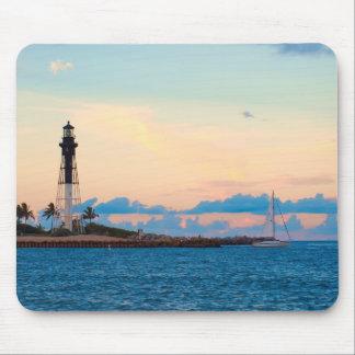 Lighthouse at Sunset Mousepads