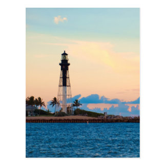 Lighthouse at Sunset Postcard