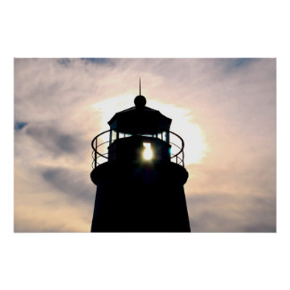 Lighthouse at Sunset Posters