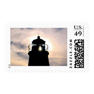 Lighthouse at Sunset Stamp