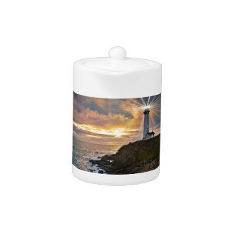 Lighthouse at Sunset Teapot