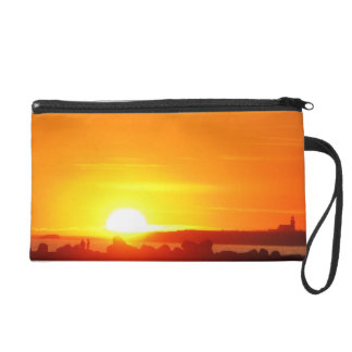 Lighthouse at Sunset! Wristlet Purse