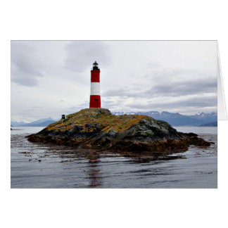 Lighthouse at the end of the world card
