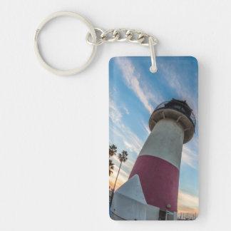 Lighthouse at the Oceanside Harbor Double-Sided Rectangular Acrylic Keychain
