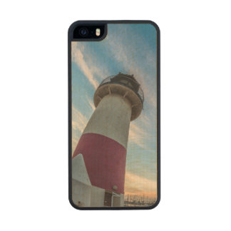 Lighthouse at the Oceanside Harbor Wood iPhone SE/5/5s Case