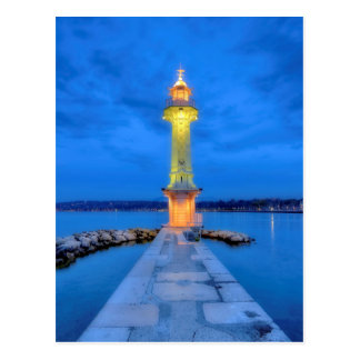 Lighthouse at the Paquis, Geneva, Switzerland Postcard