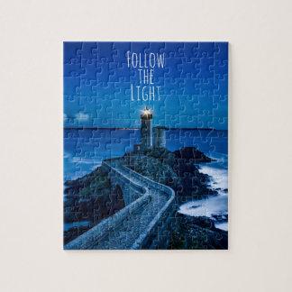 Lighthouse at Twilight Jigsaw Puzzle