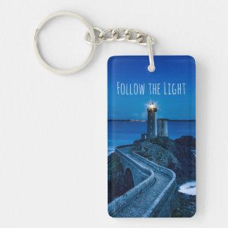 Lighthouse at Twilight Keychain