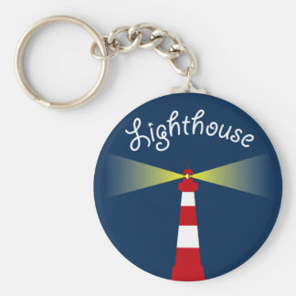 Lighthouse Basic Round Button Keychain