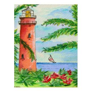 Lighthouse Beach Design Postcard