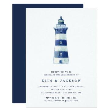 Beach Themed Lighthouse Beach | Engagement Party Invitation