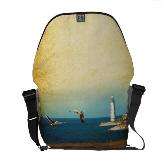 Lighthouse Beach Scene Bag Tote Purse Messenger Bag
