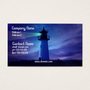 Nautical design business cards templates zazzle lighthouse beacon business card reheart Choice Image