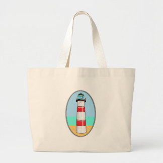 Lighthouse Beacon Large Tote Bag