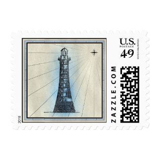 Lighthouse Beacon Nautical Lodestar Stamp