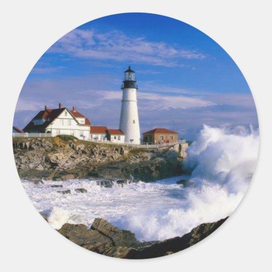 Lighthouse Beauty Classic Round Sticker