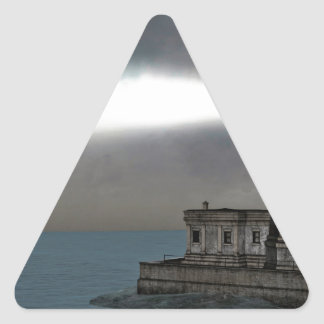 Lighthouse before the Dawn Triangle Sticker