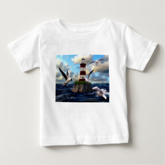 Lighthouse Birds Flying Baby T-Shirt