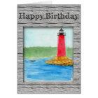 Lighthouse Birthday Card (Large Print)