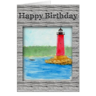 Lighthouse Birthday Card (Large Print)