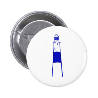 lighthouse blue white png pinback button