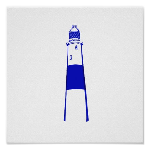 lighthouse blue white.png poster